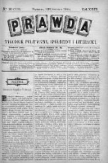 Prawda. Tygodnik polityczny, społeczny i literacki 1904, Nr 16