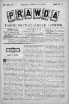 Prawda. Tygodnik polityczny, społeczny i literacki 1904, Nr 18