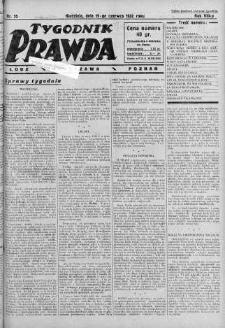 Tygodnik Prawda 19 czerwiec 1932 nr 25