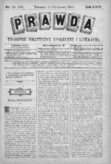 Prawda. Tygodnik polityczny, społeczny i literacki 1904, Nr 26