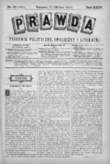 Prawda. Tygodnik polityczny, społeczny i literacki 1904, Nr 31