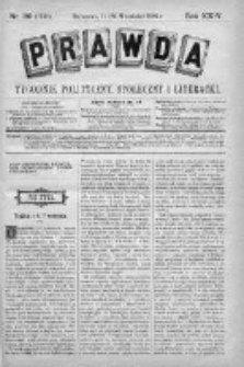 Prawda. Tygodnik polityczny, społeczny i literacki 1904, Nr 39
