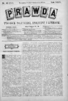Prawda. Tygodnik polityczny, społeczny i literacki 1904, Nr 43