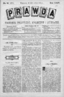 Prawda. Tygodnik polityczny, społeczny i literacki 1904, Nr 52