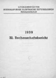Sprawozdanie.Towarzystwo Łódzkich Wąskotorowych Elektrycznych Kolei Dojazdowych 1939