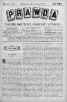 Prawda. Tygodnik polityczny, społeczny i literacki 1905, Nr 15
