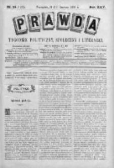 Prawda. Tygodnik polityczny, społeczny i literacki 1905, Nr 24