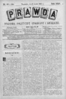 Prawda. Tygodnik polityczny, społeczny i literacki 1905, Nr 27