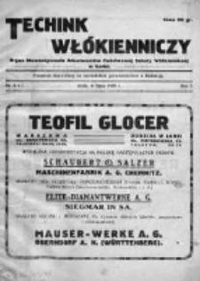 Technik Włókienniczy 1929, Nr 6-7