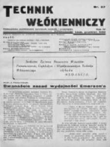 Technik Włókienniczy 1932, Nr 27