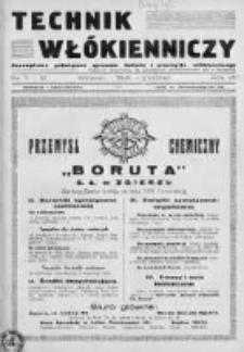 Technik Włókienniczy 1935, Nr 11-12