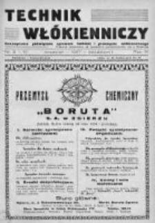 Technik Włókienniczy 1937, Nr 9-10