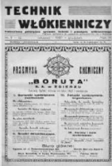 Technik Włókienniczy 1937, Nr 11-12