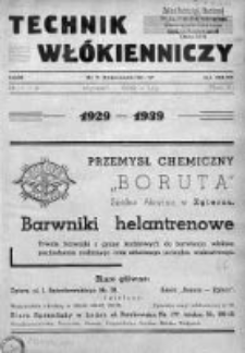Technik Włókienniczy 1939, Nr 1-2