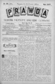 Prawda. Tygodnik polityczny, społeczny i literacki 1905, Nr 38