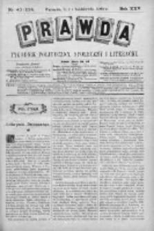 Prawda. Tygodnik polityczny, społeczny i literacki 1905, Nr 40