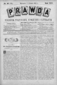 Prawda. Tygodnik polityczny, społeczny i literacki 1905, Nr 49