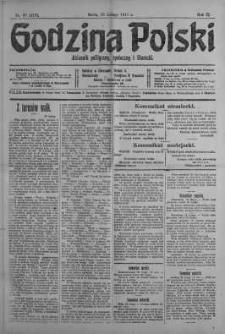 Godzina Polski : dziennik polityczny, społeczny i literacki 28 luty 1917 nr 57