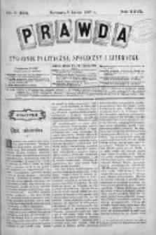 Prawda. Tygodnik polityczny, społeczny i literacki 1907, Nr 6