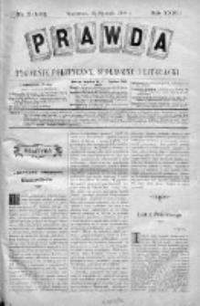 Prawda. Tygodnik polityczny, społeczny i literacki 1908, Nr 3