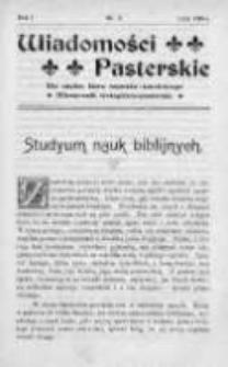 Wiadomości Pasterskie Tom I, 1905, Nr 2