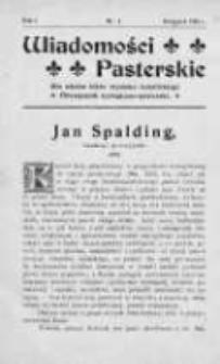 Wiadomości Pasterskie Tom I, 1905, Nr 4