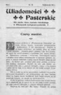 Wiadomości Pasterskie Tom I, 1905, Nr 10