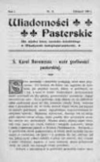 Wiadomości Pasterskie Tom I, 1905, Nr 11