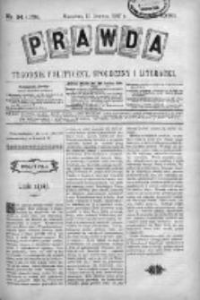 Prawda. Tygodnik polityczny, społeczny i literacki 1907, Nr 24