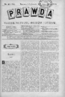 Prawda. Tygodnik polityczny, społeczny i literacki 1907, Nr 40