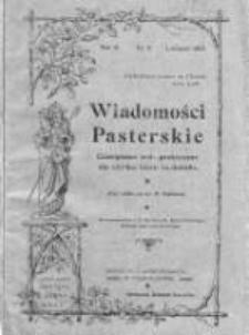 Wiadomości Pasterskie Tom III, 1907, Nr 11