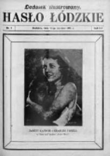 Dodatek Ilustrowany. Hasło Łódzkie 1929, R. 3, Nr 2