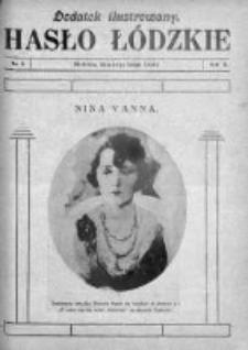 Dodatek Ilustrowany. Hasło Łódzkie 1929, R. 3, Nr 8