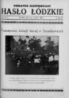 Dodatek Ilustrowany. Hasło Łódzkie 1929, R. 3, Nr 35