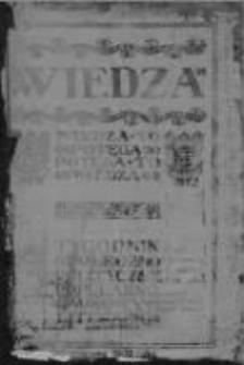 Wiedza. Tygodnik społeczno-polityczny, popularno-naukowy i literacki 1906/1907, R I, Nr 31