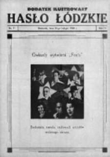Dodatek Ilustrowany. Hasło Łódzkie 1930, R.4, Nr 7