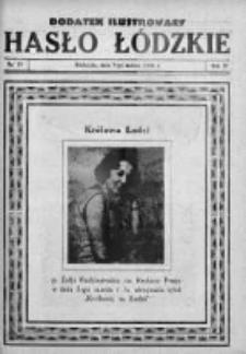 Dodatek Ilustrowany. Hasło Łódzkie 1930, R.4, Nr 10