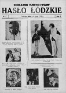Dodatek Ilustrowany. Hasło Łódzkie 1930, R.4, Nr 27