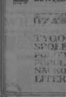 Wiedza. Tygodnik społeczno-polityczny, popularno-naukowy i literacki 1906/1907, R I, Tom II, Nr 37