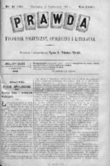 Prawda. Tygodnik polityczny, społeczny i literacki 1908, Nr 42