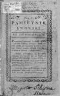 Pamiętnik Lwowski 1816, T.1, Nr 1