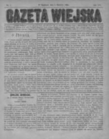 Gazeta Wiejska 1884, Nr 1