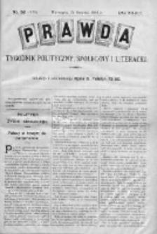 Prawda. Tygodnik polityczny, społeczny i literacki 1908, Nr 52