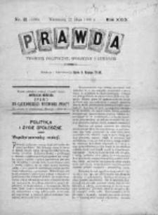Prawda. Tygodnik polityczny, społeczny i literacki 1909, Nr 21