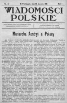Wiadomości Polskie 1 1914-1915, Nr 42
