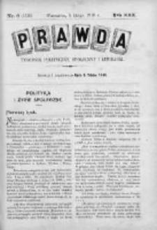 Prawda. Tygodnik polityczny, społeczny i literacki 1910, Nr 6