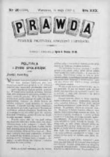 Prawda. Tygodnik polityczny, społeczny i literacki 1910, Nr 20