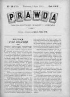 Prawda. Tygodnik polityczny, społeczny i literacki 1910, Nr 28