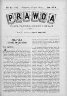 Prawda. Tygodnik polityczny, społeczny i literacki 1910, Nr 30
