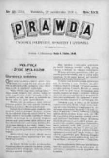 Prawda. Tygodnik polityczny, społeczny i literacki 1910, Nr 43